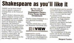 Review for as you like it 2005
